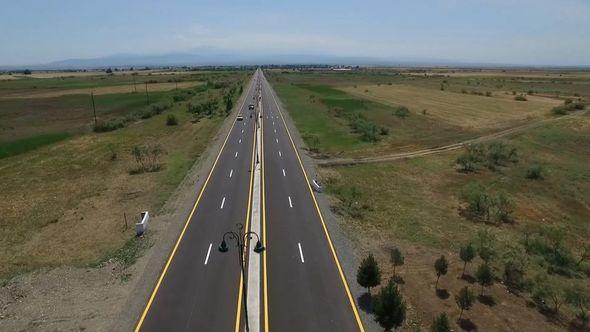 Prezident Goranboyda yol açılışında — FOTO