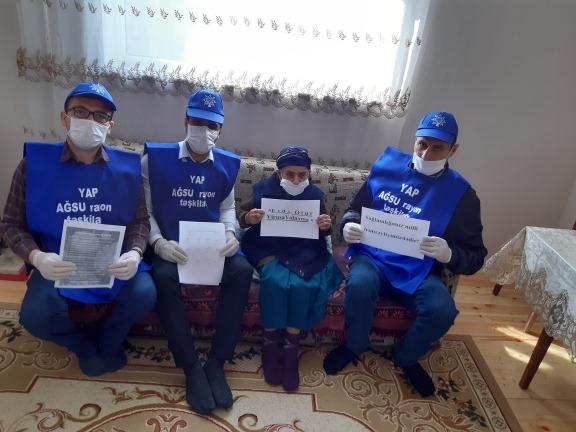 """YAP Ağsu rayon təşkilatının könüllüləri mart ayının 26-da """"Sağlamlığımız milli həmrəyliyimizdir"""" aksiyasını davam etdirib - Xeberciinfo"""
