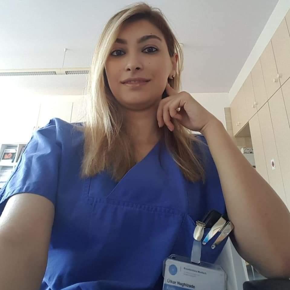Almaniyada çalışan gənc azərbaycanlı həkim Ülkər Nağızadə (FOTO)