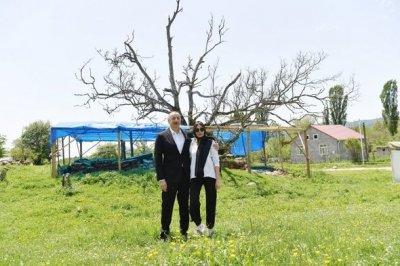 İlham Əliyev və Mehriban Əliyeva Pir Ömər Sultan ziyarətgahı ilə tanış olub — FOTO + YENİLƏNİB