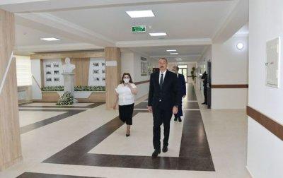 İlham Əliyev Bakıda 251 nömrəli məktəbin yeni korpusunun açılışında iştirak edib — YENİLƏNİB + FOTO