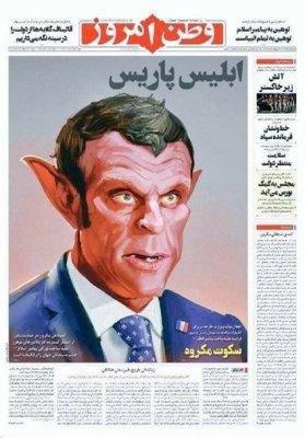 İran qəzetindən Emmanuel Makrona cavab - FOTO