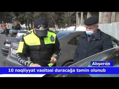 Abşeron Yol Polisi reydlərini mütəmadi olaraq davam etdirir