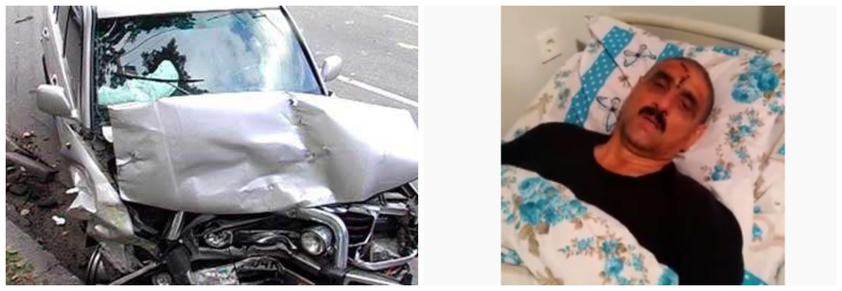 Çernopol Engelliler Derneği Başkanı Salimov Şahnazar trafik kazası geçirdi  ...