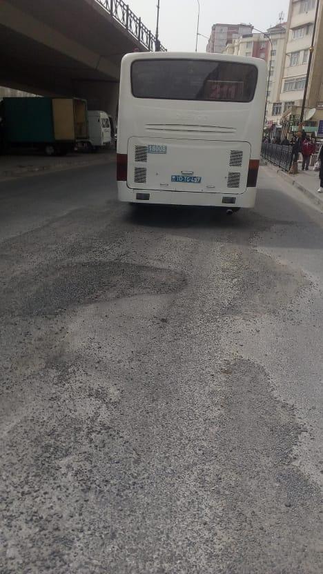 211 saylı Marşrut sürücüsü qaydalara əməl etmir