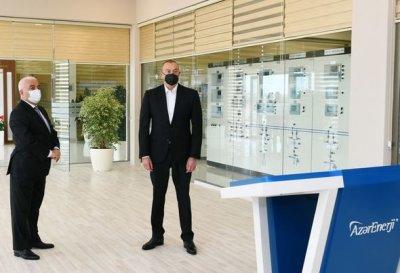 İlham Əliyev yarımstansiyaların açılışında - YENİLƏNİB + FOTO