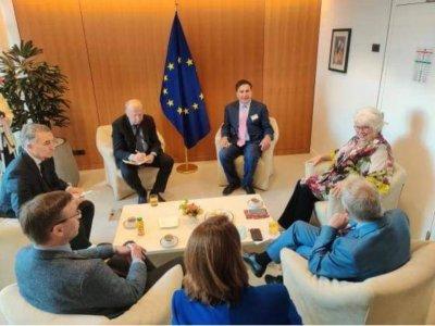 Saakaşvili Gürcüstana gəlmək üçün Avropa Parlamentinin üzvləri ilə görüş keçirib