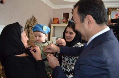 İsmayıllıdan olan şəhid Ramil Musayevin medalı ailəsinə təqdim edilib